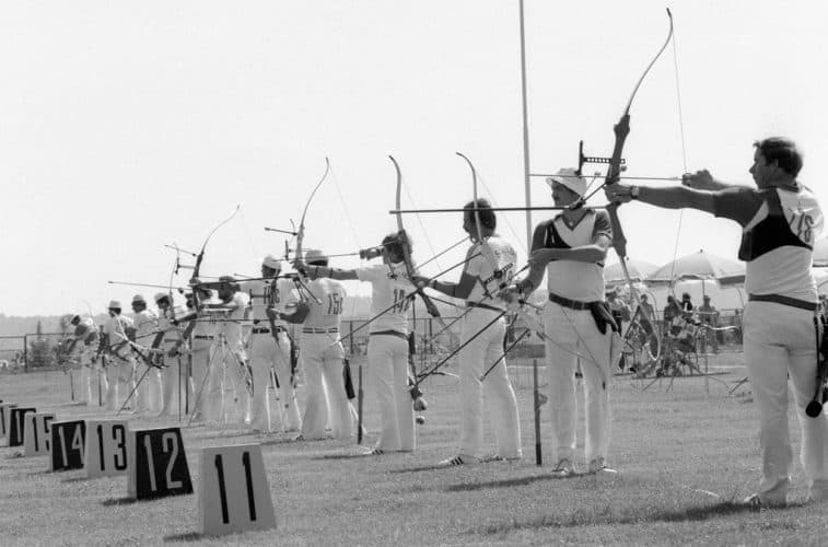 @Barebow RIAN archive 103498 The contest in archery during the XXII Olympic Games
